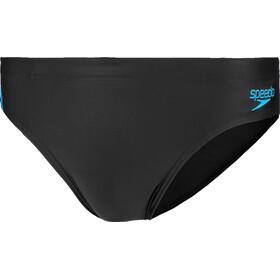 speedo Tech Panel Slip 7cm Hombre, black/nordic teal/pool